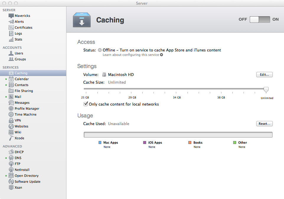 Caching Server - Hasn't Been Started Yet.