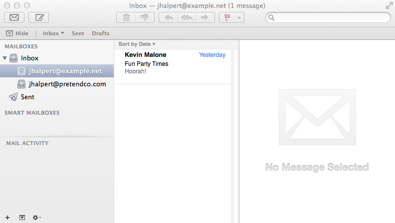 Jim Halpert @ Example Inbox.