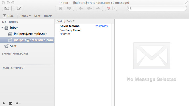 Jim Halpert @ PretendCo Inbox.