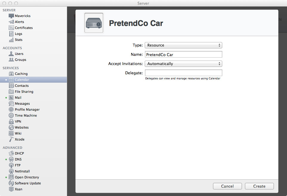 Resource: PretendCo Car