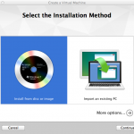 VMware Fusion - Select the Installation Method